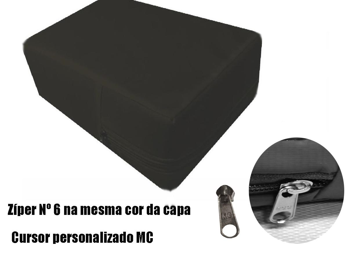 Capa Colchão Impermeável Casal QUEEN PRETA  - Miranda Colchões