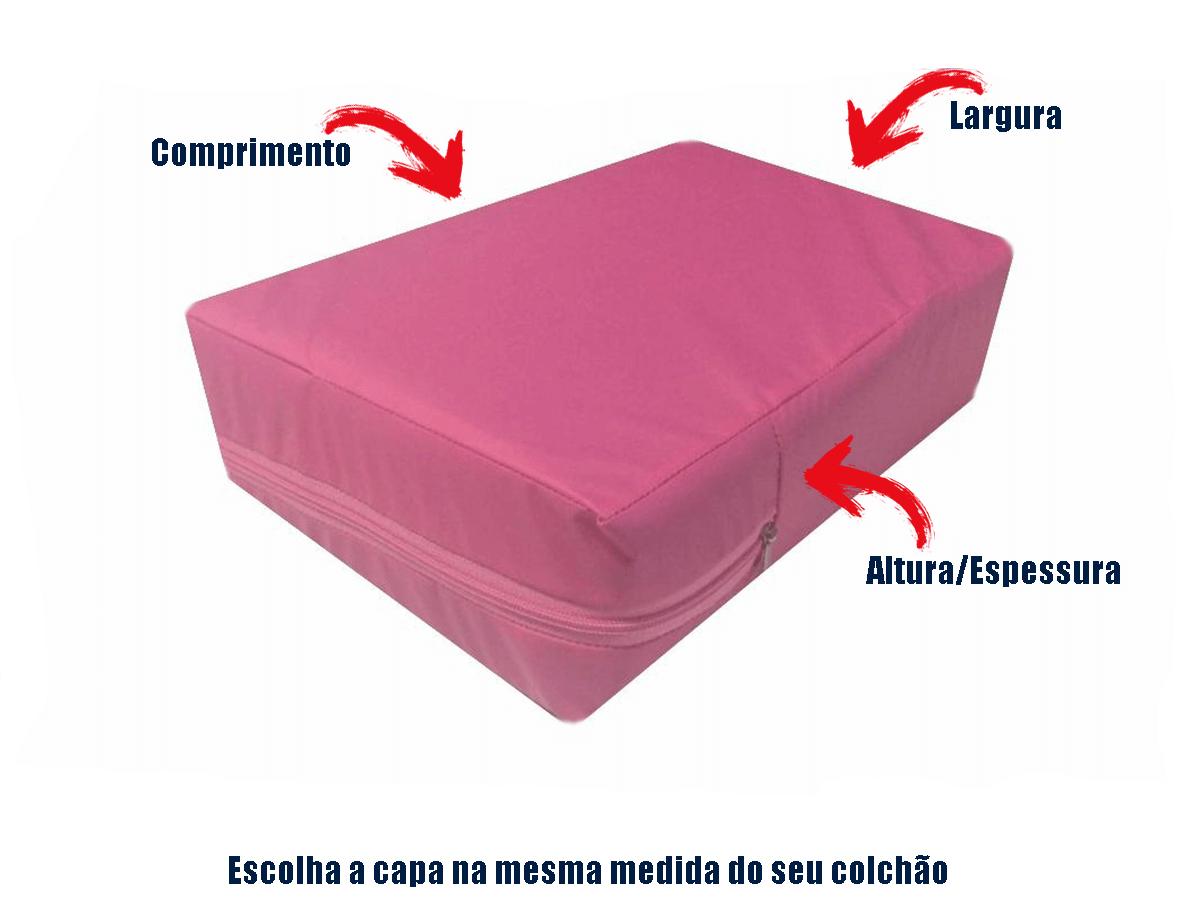 Capa Colchão Impermeável Casal QUEEN ROSA  - Miranda Colchões