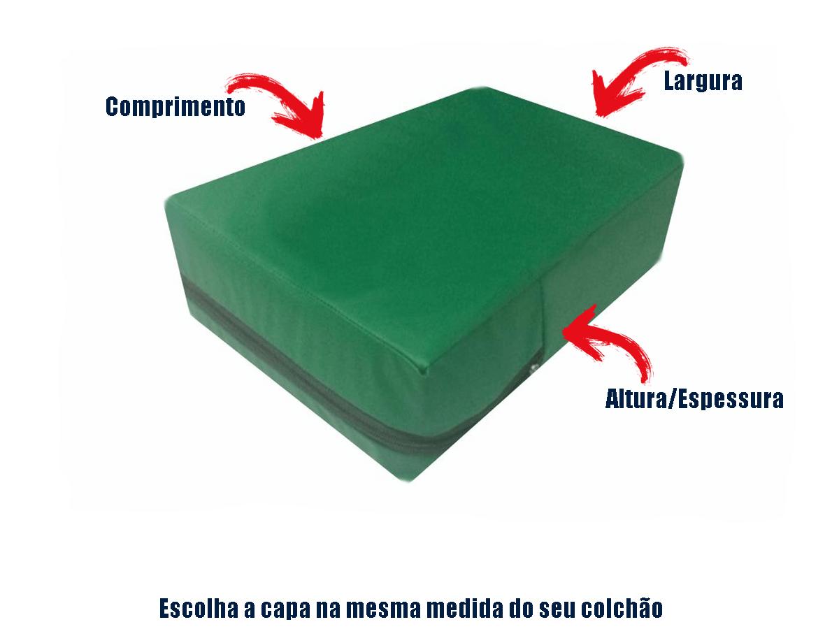 Capa Colchão Impermeável Casal QUEEN VERDE BANDEIRA  - Miranda Colchões