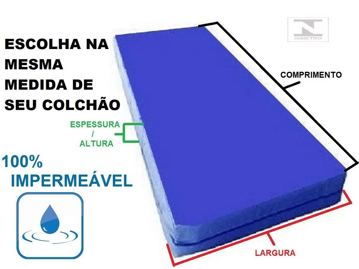 Capa Colchão Impermeável Hospitalar Azul Antiácaro Solteiro Zíper  - Miranda Colchões