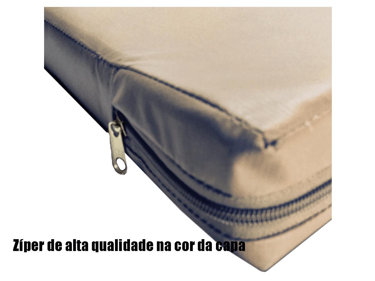 Capa Colchão Solteiro BEGE Hospitalar Impermeável Com Zíper  - Miranda Colchões