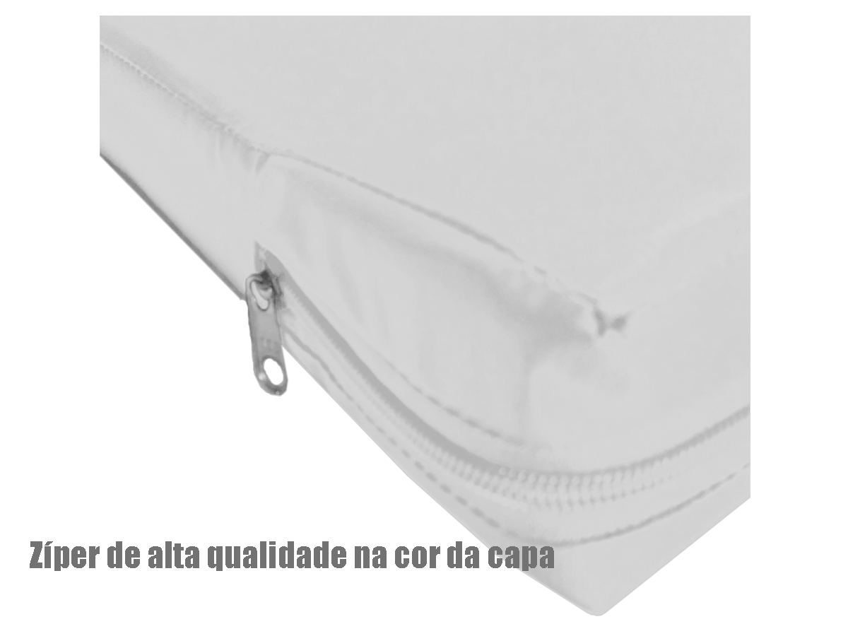 Capa Colchão Solteiro Branca Hospitalar Impermeável Com Zíper  - Miranda Colchões