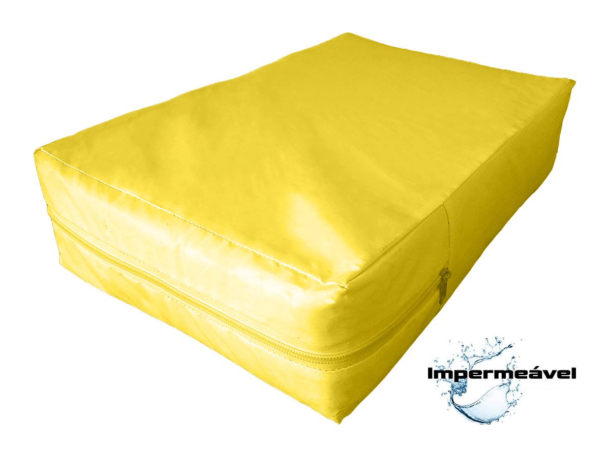 Capa Colchao Solteiro Hospitalar Impermeavel Medida Especial - Amarela  - Miranda Colchões
