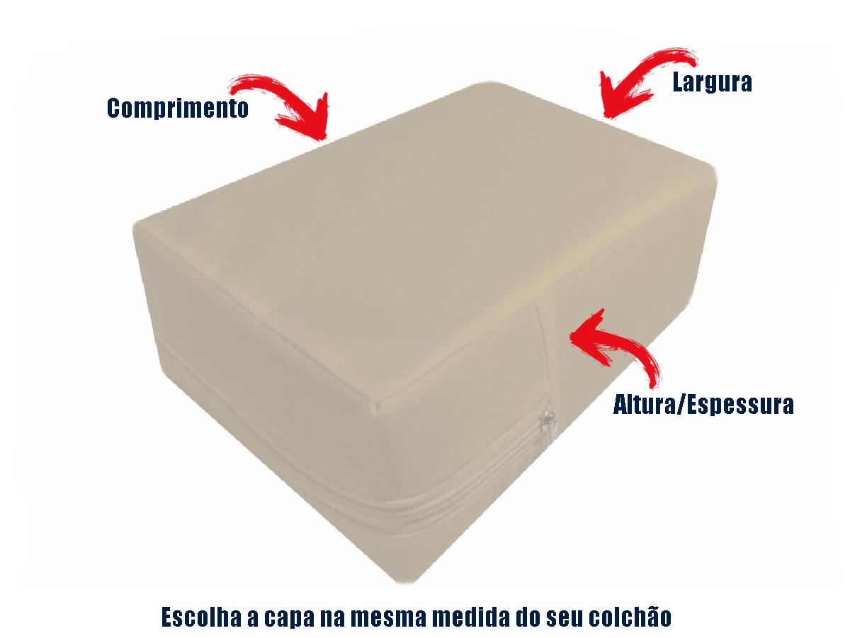 Capa Colchao Solteiro Hospitalar Impermeavel Medida Especial - Bege  - Miranda Colchões