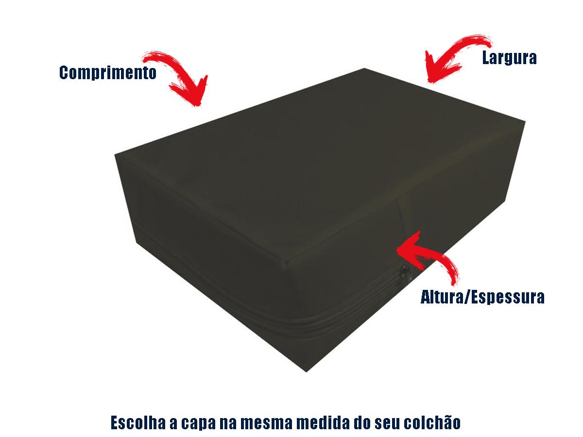 Capa Colchao Solteiro Hospitalar Impermeavel Medida Especial - Marrom  - Miranda Colchões