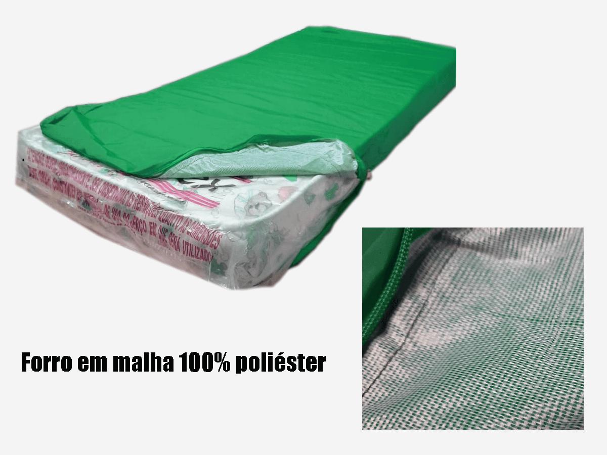 Capa Colchao Solteiro Verde Bandeira Hospitalar Impermeavel Com Ziper  - Miranda Colchões