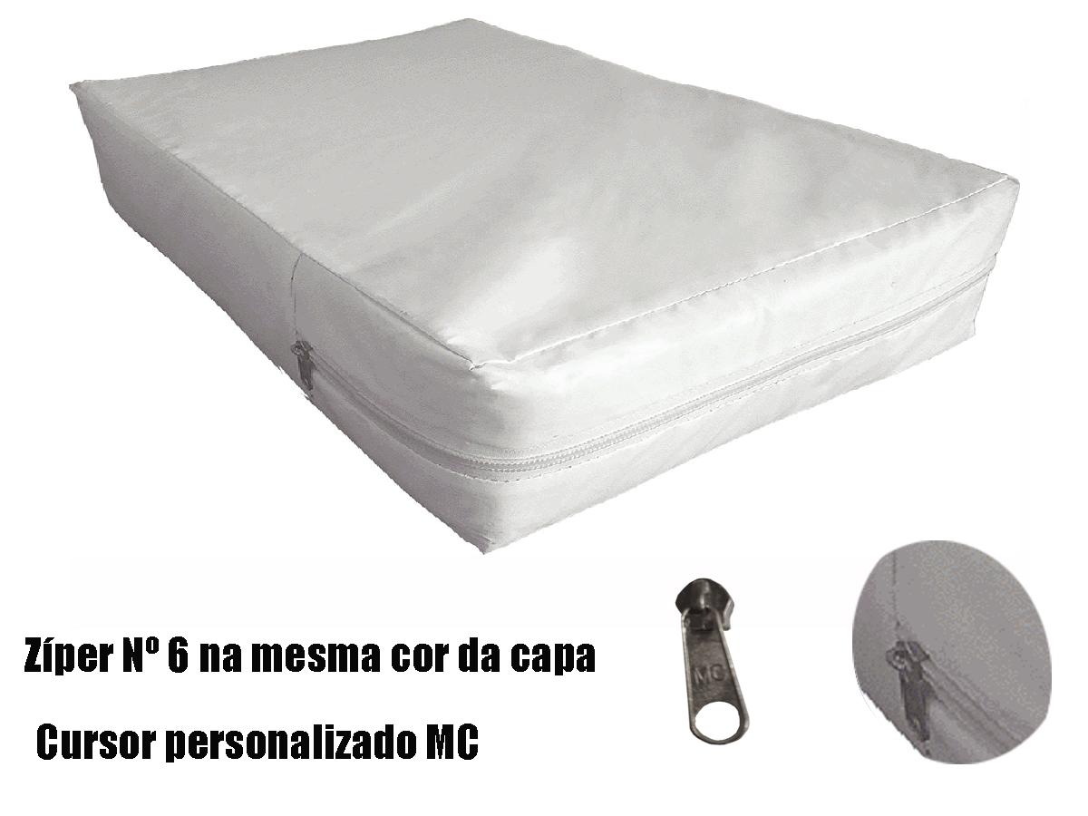 Capa Impermeável Colchão Anti Alérgica Branca- Casal  - Miranda Colchões