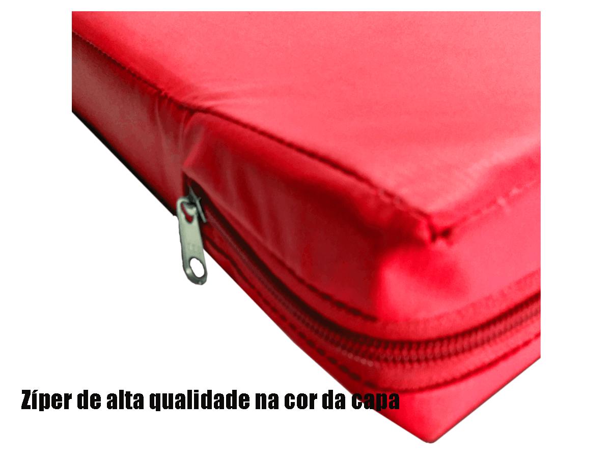 Capa Impermeável Colchão Casal Anti Alérgica VERMELHA  - Miranda Colchões