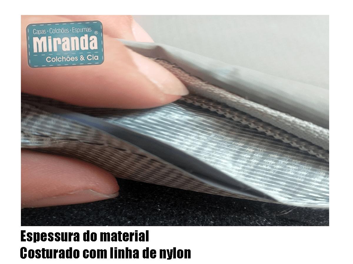 Capa Impermeável Colchão King Especial Com Ziper Forrada anti alérgica - Sob Medida Azul  - Miranda Colchões