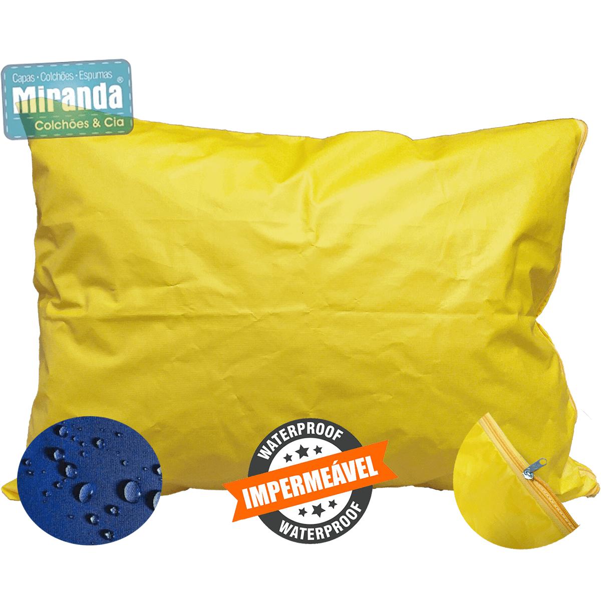 Capa Impermeável Para Travesseiro Hospitalar (50 x 70 cm) Com Zíper Diversas  Cores  - Miranda Colchões