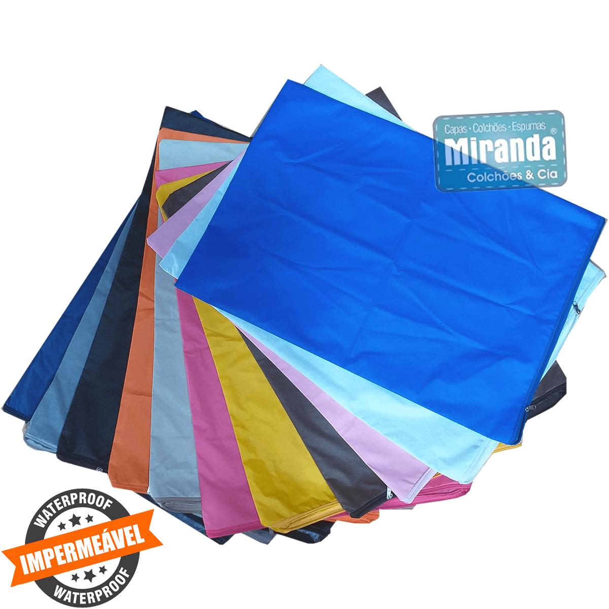 Capa Impermeável Para Travesseiro Hospitalar Com Zíper Diversas  Cores - Medida Especial  - Miranda Colchões