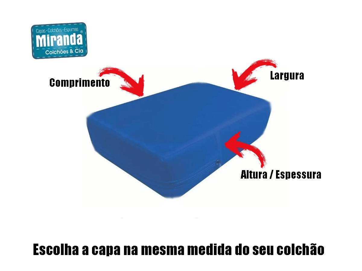 Capa p/ Colchão Solteiro Tipo Hospitalar Impermeável Azul  - Miranda Colchões