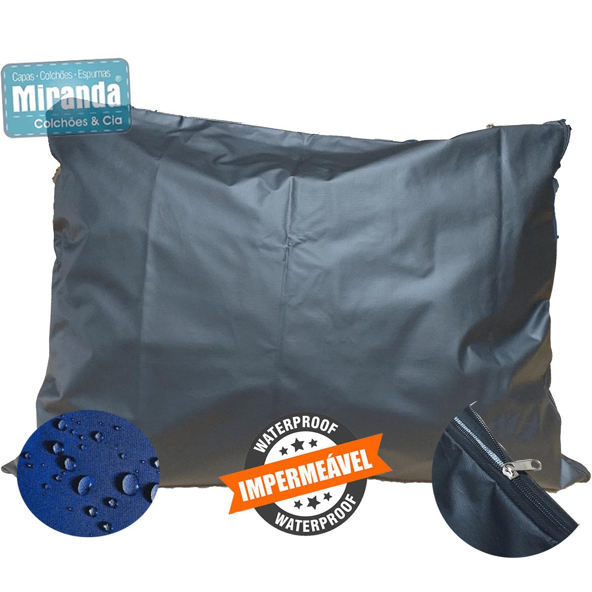 Capa p/ Travesseiro de Corpo Impermeável 50x140cm Com Zíper Coloridas  - Miranda Colchões