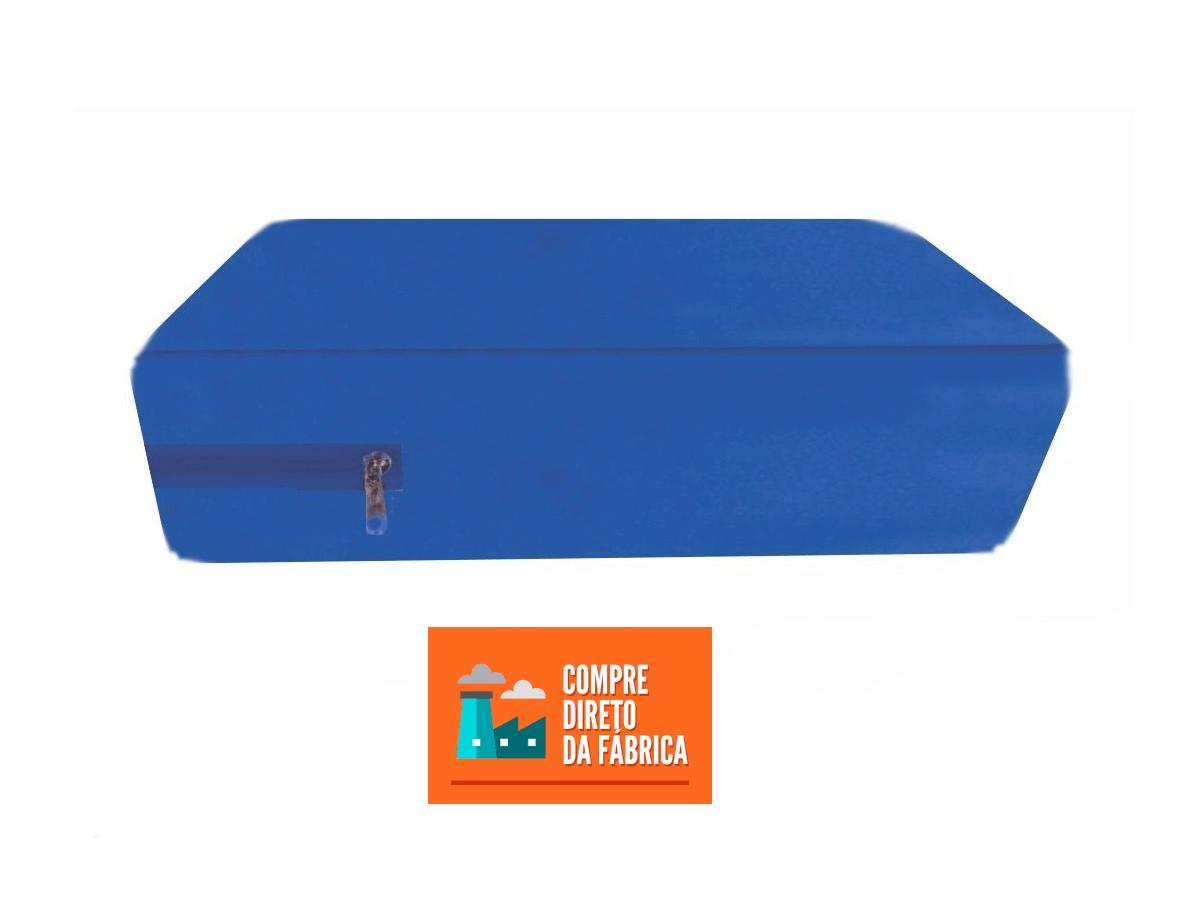 Capa Para Colchão Berço Mini Cama Impermeável Com Zíper Azul  - Miranda Colchões