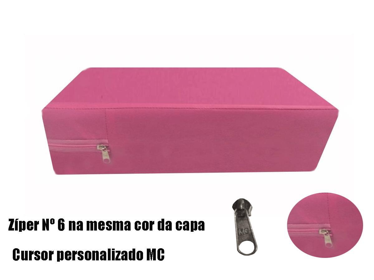 Capa Para Colchão Berço Mini Cama Impermeável Com Ziper ROSA  - Miranda Colchões