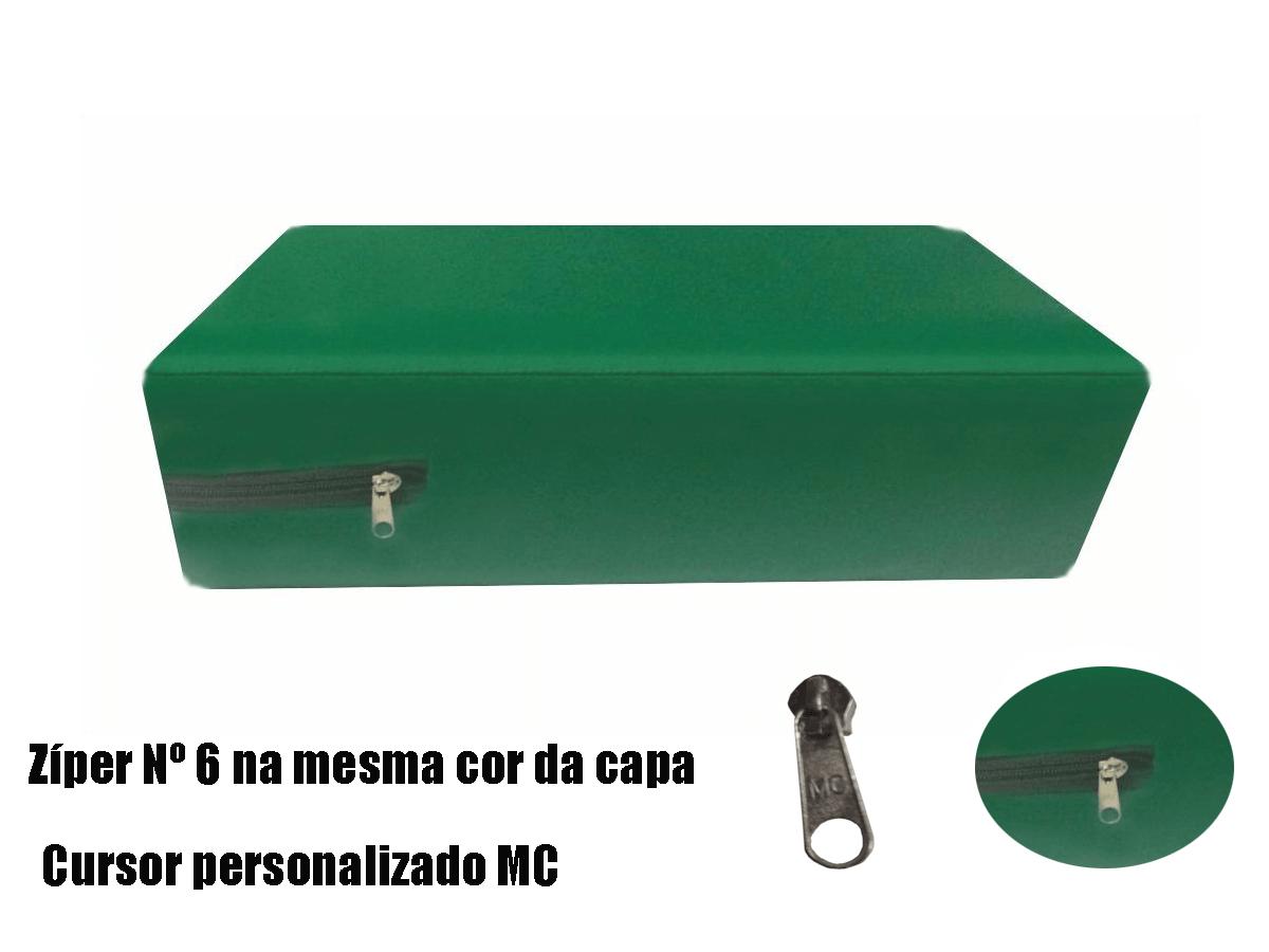 Capa Para Colchão Berço Mini Cama Impermeável Com Zíper VERDE BANDEIRA  - Miranda Colchões