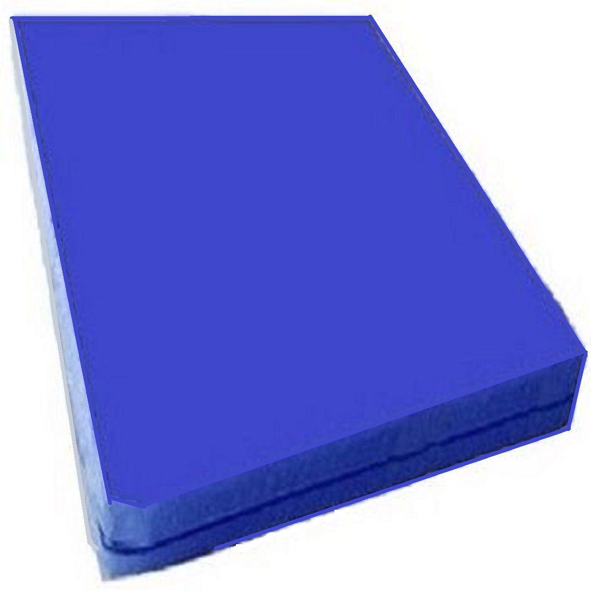 Capa Para Colchão Solteiro  Azul Royal tipo Hospitalar Impermeável Com Ziper