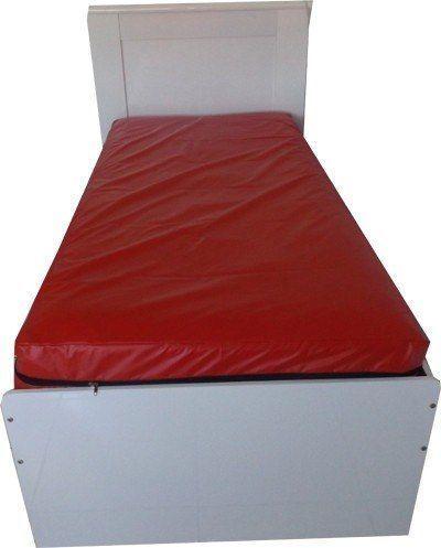 Capa Protetora Colchão Vermelha Solteiro Impermeável