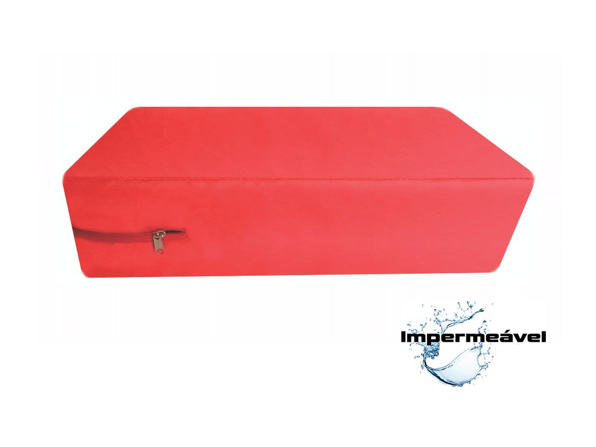 Capa Protetora Colchão Vermelha Solteiro Impermeável  - Miranda Colchões