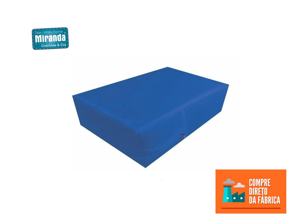 Kit 30 Capas De Colchão Solteiro Impermeável azul  - Miranda Colchões