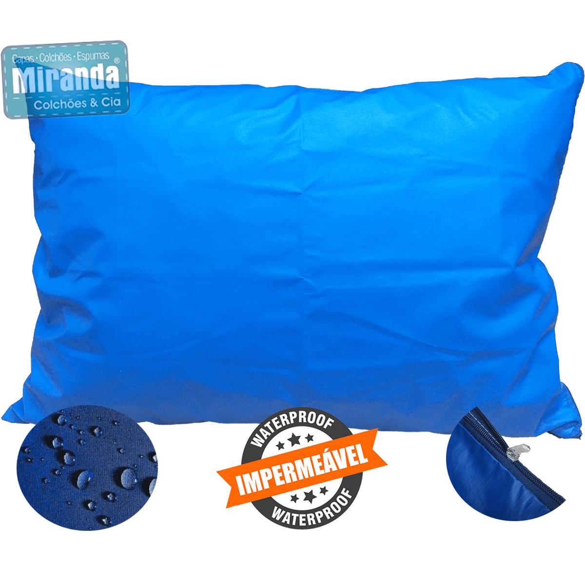 Kit 50 Capas Travesseiro 50 X 70 Hospitalar Impermeável azul  - Miranda Colchões