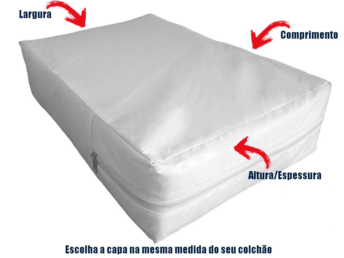 Kit Capa Colchao Solteiro + Capa Travesseiro Branca  - Miranda Colchões