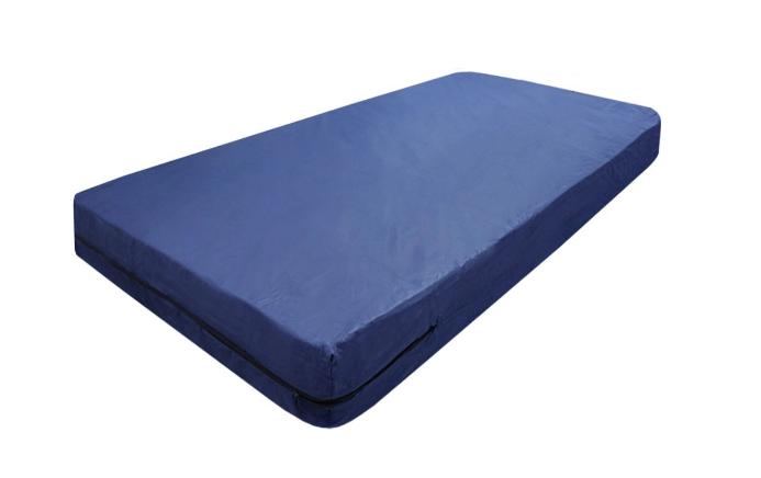 Kit Capa Para Colchão Solteiro Hospitalar Impermeável Com Ziper + 02 Capas Travesseiro Impermeável azul  - Miranda Colchões
