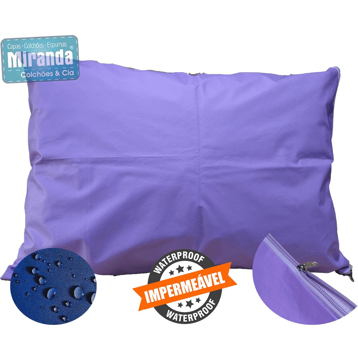 Travesseiro Hospitalar: Capa Impermeável + Refil de Espuma - Coloridas  - Miranda Colchões
