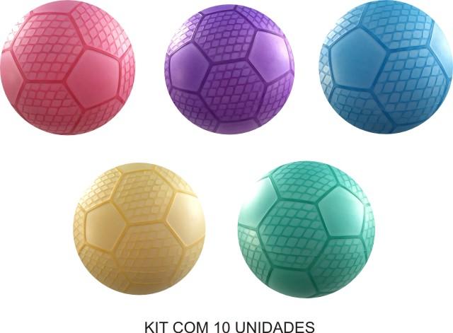 Bola de Vinil Favo de Mel kit com 10 unidades  - Bolas Lassabia - Bolas de Futebol e Volei