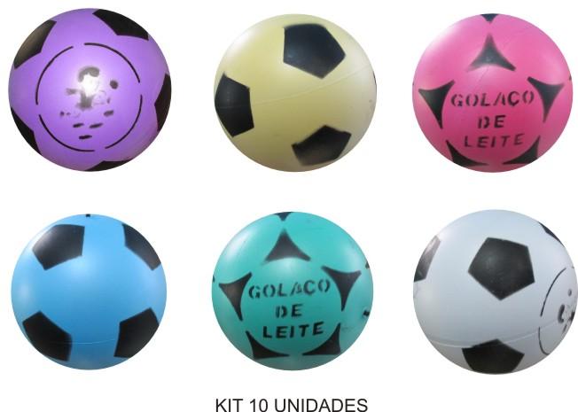 Bola de Vinil Dente de Leite - Kit com 10   - Bolas Lassabia - Bolas de Futebol e Volei