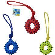 Brinquedo para Cachorro Argola com corda e som colors