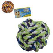 Brinquedo para cachorro bola de corda colors 6,5cm