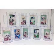 Canecas Pet Acrilica Lembranças Personalizadas com Foto - kit com 24 unidades