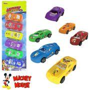 Carro a Fricção Mickey Colors Kit  com 6 Peças na Cartela