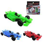 Carro Formula 1 Rl Super Crazy Racing  kit com 3 Peças na Cartela
