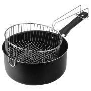Frigideira alta black com cesto para fritura 20 cm de Ø