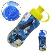 garrafa / squeeze de plastico pet  batman com tampa colors 600 ml