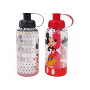 Garrafa/ Squeeze de plastico pet Mickey com tubo de  Gelo colors 600 ml
