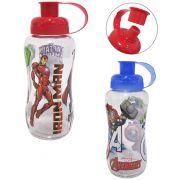Garrafa / Squeeze de  plastico pet redonda vigadores/avengers colors 550 ml