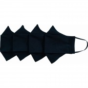 Kit 03 Mascaras de Proteção em Tecido Duplo Lavável e Reutilizável modelo 3D Cores Lisas  - tamanho G Feminino