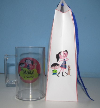 Caneca Infantil e Embalagem Personalizada Kit com 10  - Bolas Lassabia - Bolas de Futebol e Volei