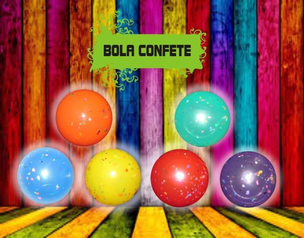 Bola de Vinil Confete 20 cm Kit com 10  - Bolas Lassabia - Bolas de Futebol e Volei