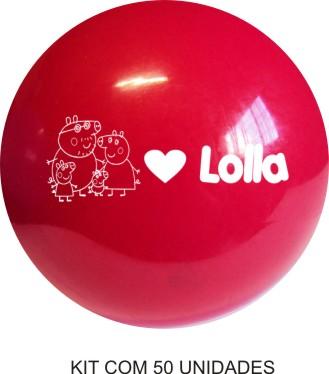 Bola de Vinil  Personalizada 23 cm - Kit com 50  - Bolas Lassabia - Bolas e Brindes Personalizados