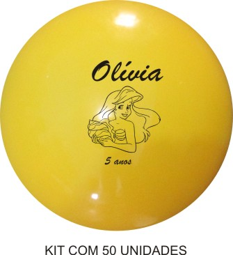 Bola de Vinil  Personalizada 23 cm - Kit com 50  - Super Tri Shop - Bolas - Utilidades - Presentes