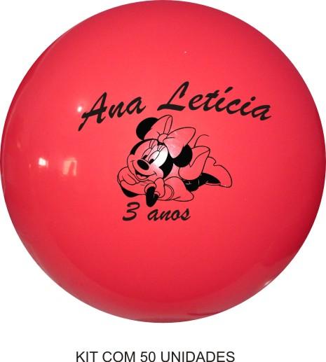 Bola de Vinil Personalizado 33 cm - Kit com 50