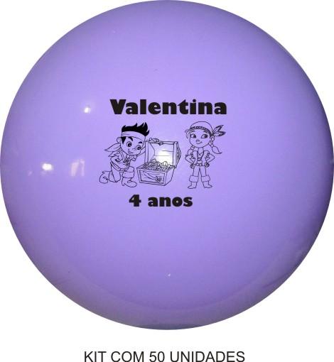 Bola de Vinil Personalizado 33 cm - Kit com 50  - Bolas Lassabia - Bolas e Brindes Personalizados