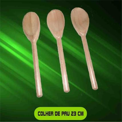 Colher de Madeira - Kit com 50 unidades  - Bolas Lassabia - Bolas e Brindes Personalizados