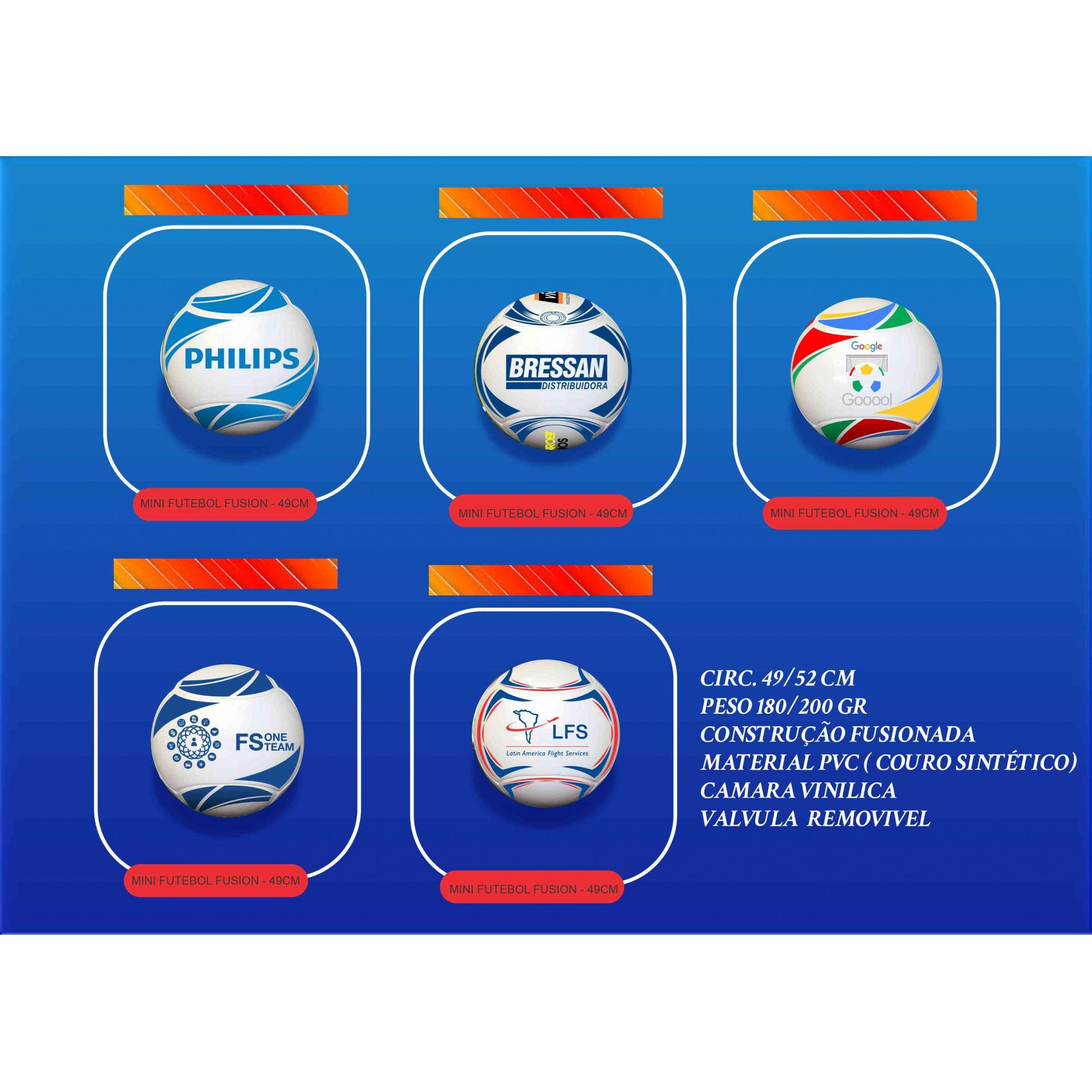 Bola de Futebol Personalizada Fusion 1  - Bolas Lassabia - Bolas e Brindes Personalizados