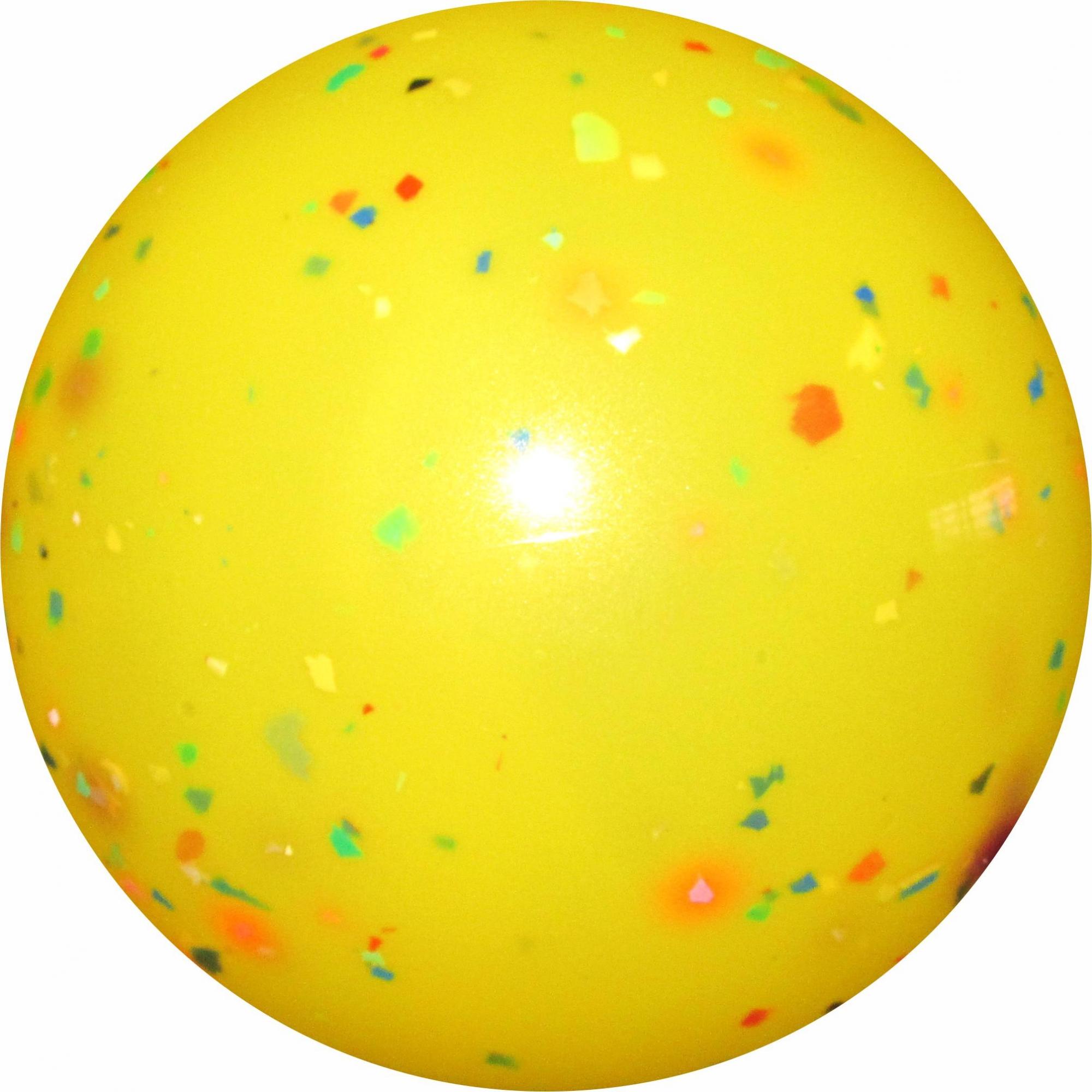 Bola de Vinil Confete 20 cm Kit com 10