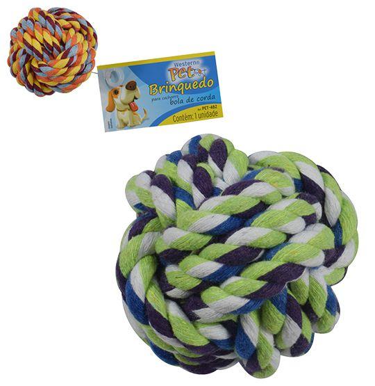 Brinquedo para cachorro bola de corda colors 6,5cm  - Bolas Lassabia - Bolas de Futebol e Volei